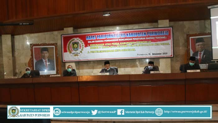 Rapat Paripurna DPRD Kab.Purworejo 15 Desember 2020