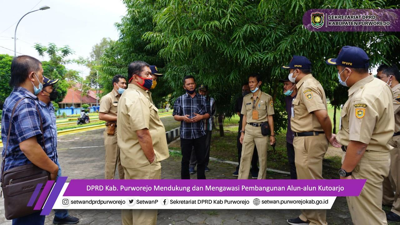 Komisi II DPRD Purworejo Cek Kesiapan Revitalisasi Alun-alun Kutoarjo