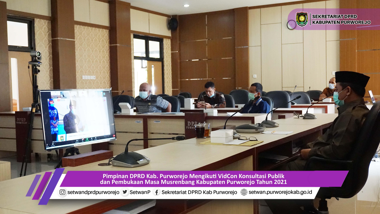 DPRD Ikuti Forum Konsultasi Publik Dan Musrenbang Kabupaten Secara Daring