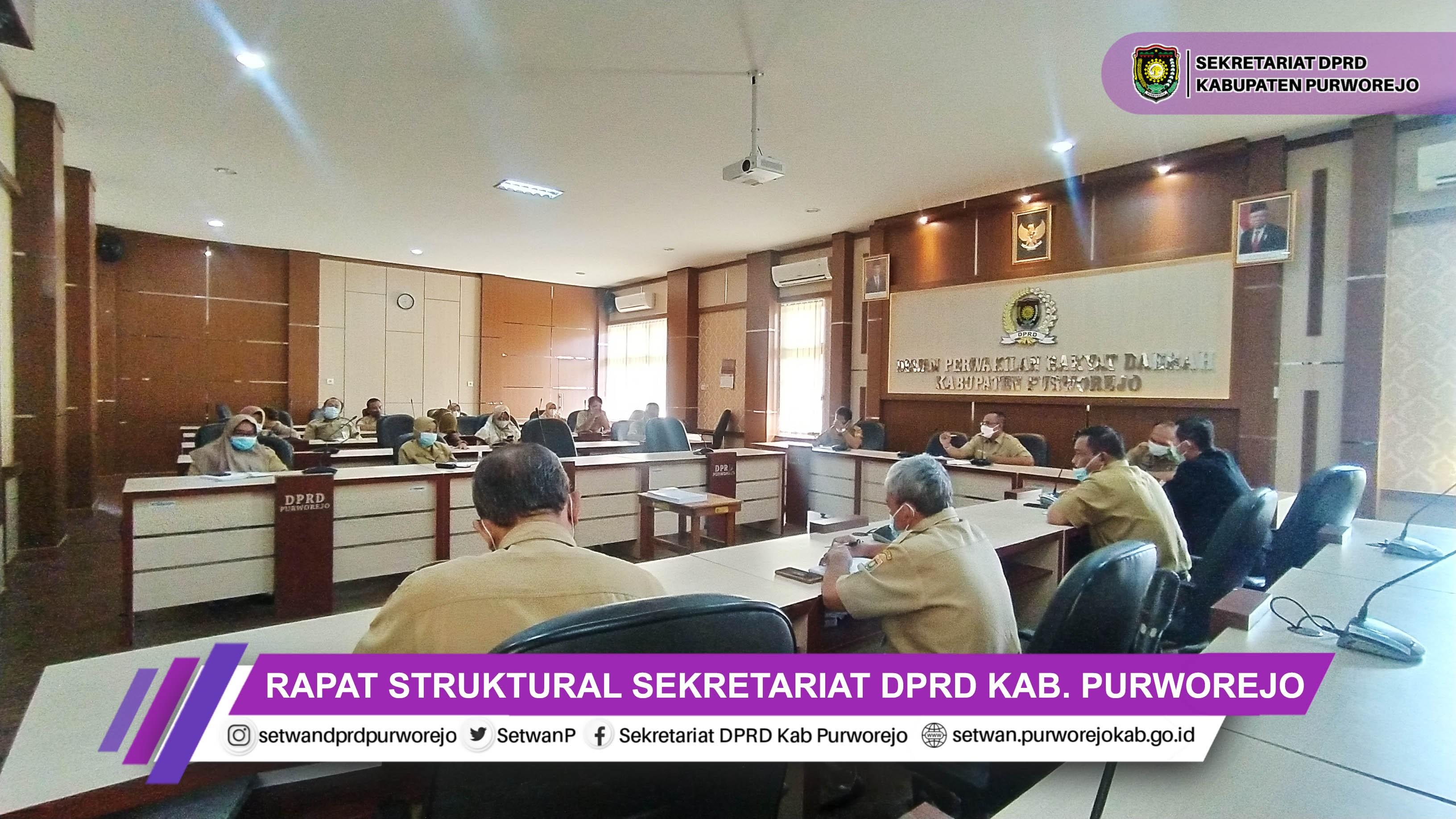 Sekretariat DPRD Kabupaten Purworejo Melakukan Rapat Struktural