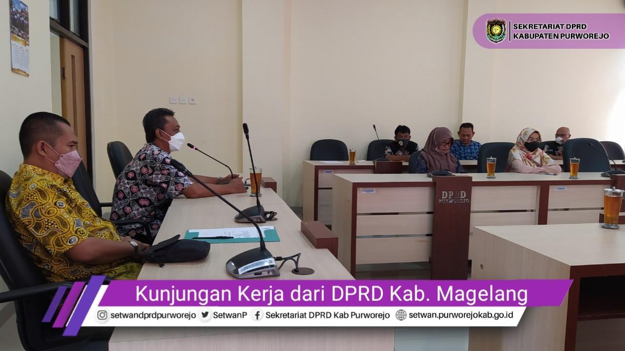 Setwan Purworejo Terima Kunjungan Kerja DPRD Kab. Magelang